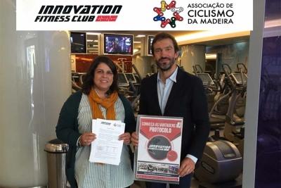 A Associação de Ciclismo da Madeira celebrou protocolo de colaboração com o Ginásio Innovation Fitness CLUB